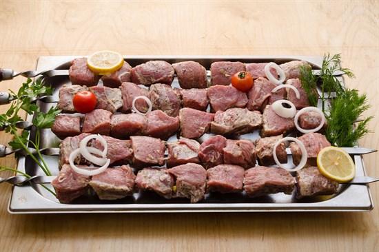 Шашлык свиной классический из свиного окорока и лопатки - фото 5093